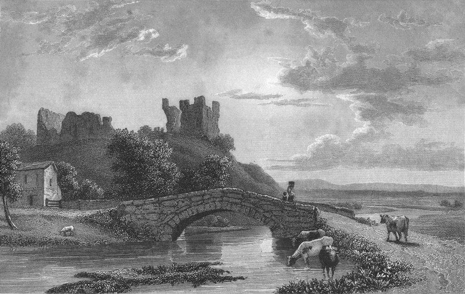 Associate Product WESTMORLAND. Brough Castle. Westall. Kendal -Finden 1834 old antique print