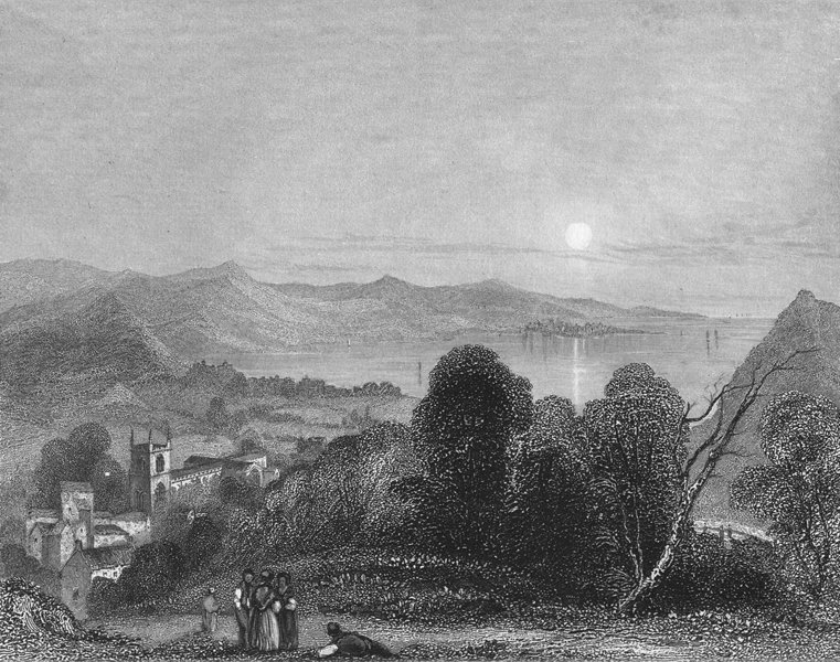 Associate Product WALES. Bangor Cathedral Beaumaris 1836 old antique vintage print picture