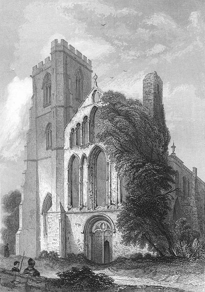 Associate Product WALES. Llandaff Cathedral 1836 old antique vintage print picture