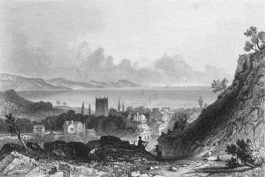 WALES. Bangor. Sargent engraved 1846 old antique vintage print picture