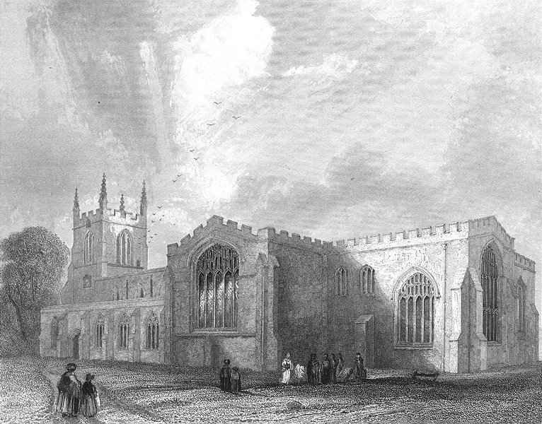 Associate Product WALES. Bangor Cathedral SE view. Bartlett Gastineau c1850 old antique print