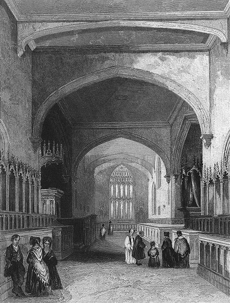 Associate Product WALES. Bangor Cathedral choir 1860 old antique vintage print picture