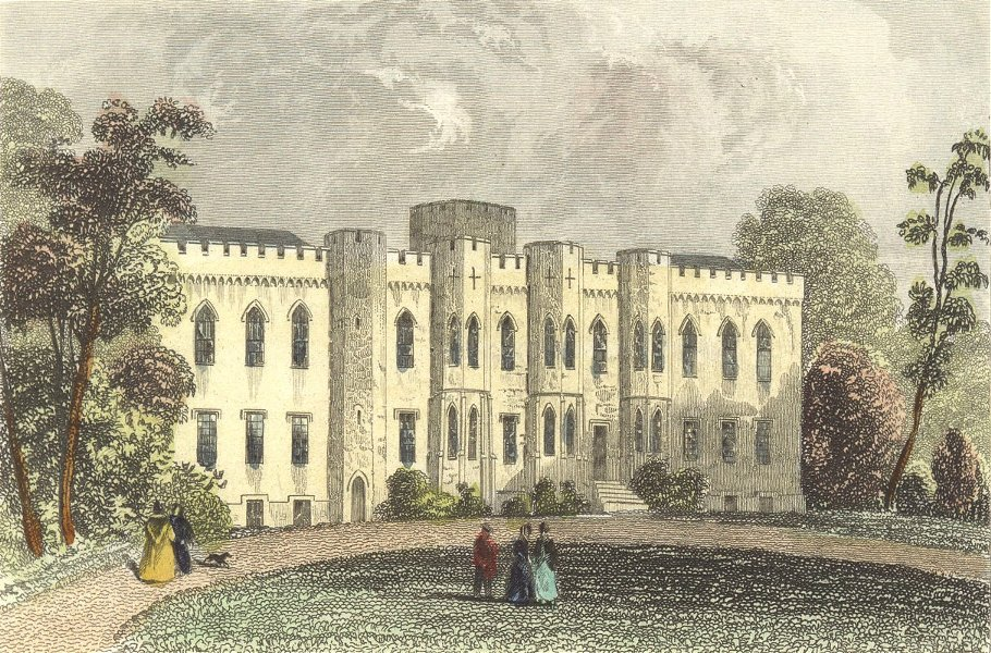 Associate Product WALES. Cardiff Castle, Glamorganshire. DUGDALE c1840 old antique print picture