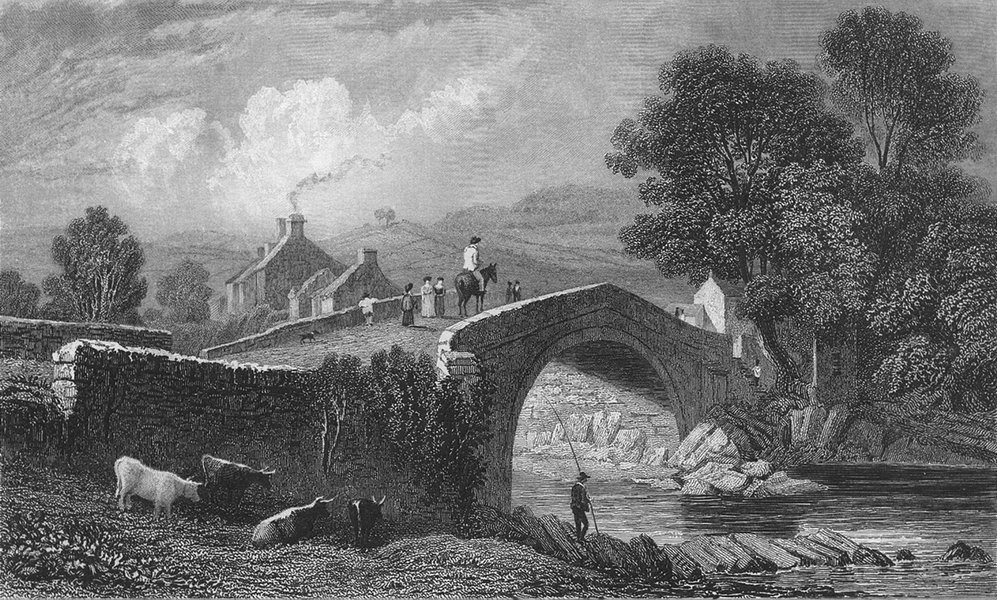Associate Product RADNORSHIRE. Rhaeadr bridge. Radnor. RHAIDER.  1831 old antique print picture