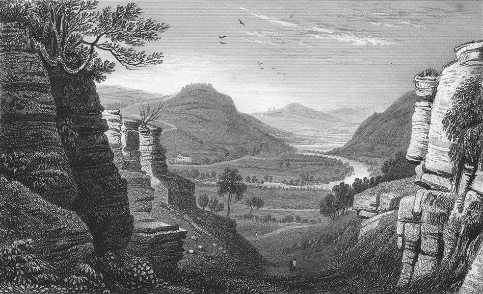 Associate Product WALES. Wye, Aberedwy, Radnorshire. Radnor. Gastineau 1831 old antique print