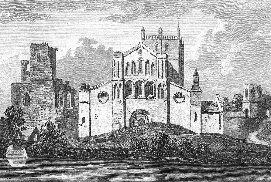 Associate Product WALES. St David's College Pembrokeshire. Grose. 18C 1795 old antique print