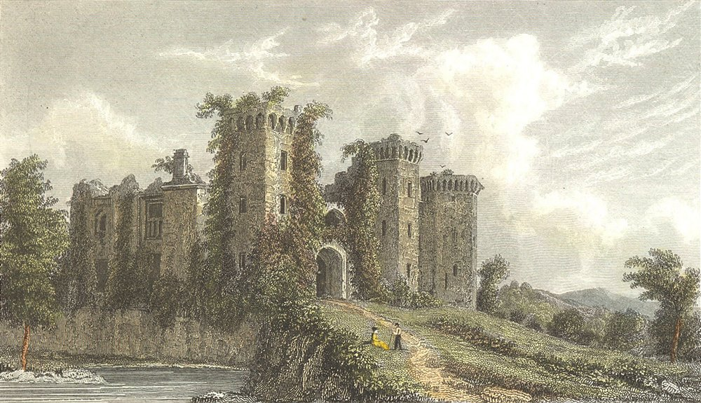 WALES. Raglan Castle. Westall 1830 old antique vintage print picture