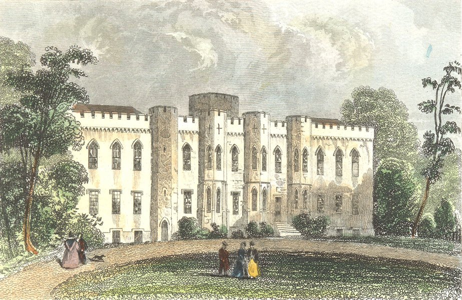 Associate Product CARDIFF CASTLE. Glamorganshire. DUGDALE Pembroke 1835 old antique print