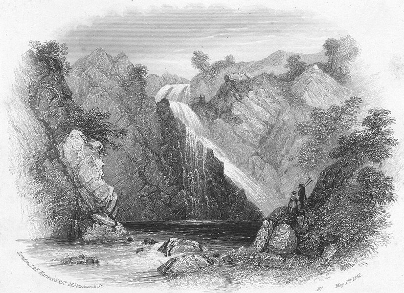 Associate Product WALES. Caennant Mawr. Llanberis. Harwood. Pass 1842 old antique print picture