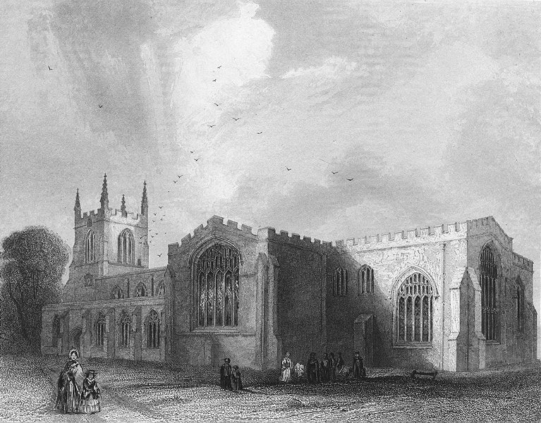 Associate Product WALES. Bangor Cathedral SE view 1850 old antique vintage print picture