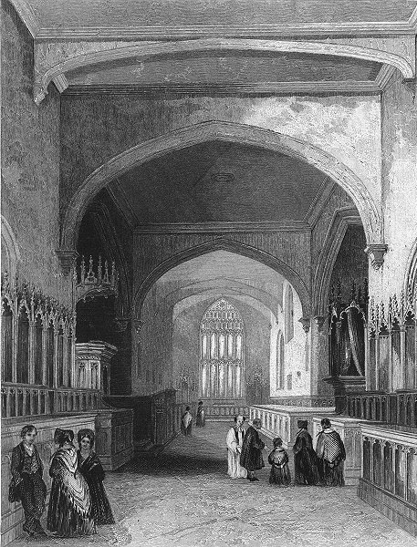 Associate Product WALES. Bangor Cathedral choir 1850 old antique vintage print picture
