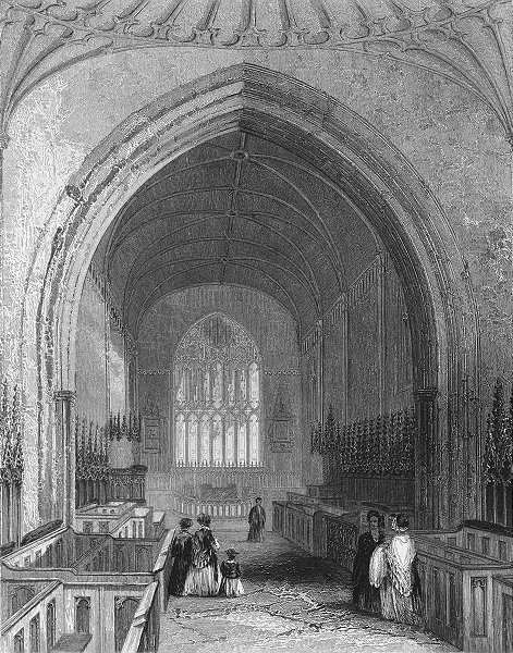 Associate Product WALES. St Asaph's Cathedral choir. Asaph 1850 old antique print picture