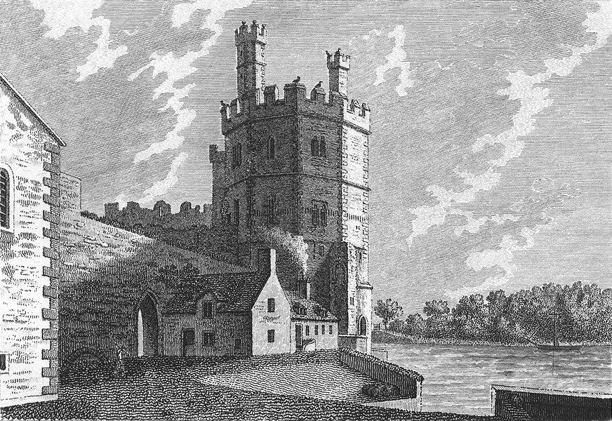 Associate Product WALES. Caernarfon Castle. Grose. 18C 1795 old antique vintage print picture