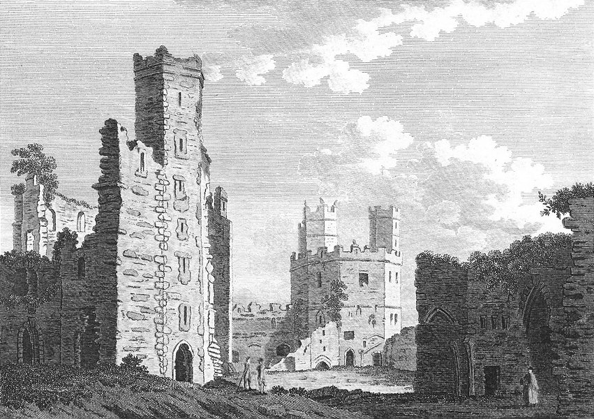 Associate Product WALES. Inside of Caernarfon Castle. Grose. 18C 1795 old antique print picture
