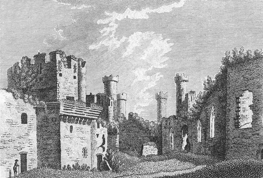 Associate Product CONWY CASTLE. Caernarfonshire. Caernarfon. Grose. 18C 1795 old antique print