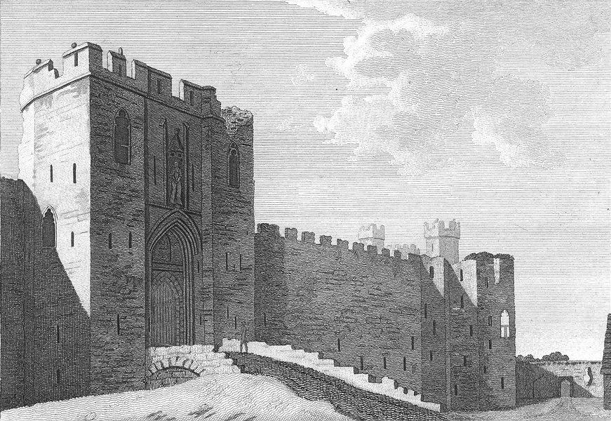 Associate Product WALES. Gate of Caernarfon Castle. Grose. 18C 1795 old antique print picture