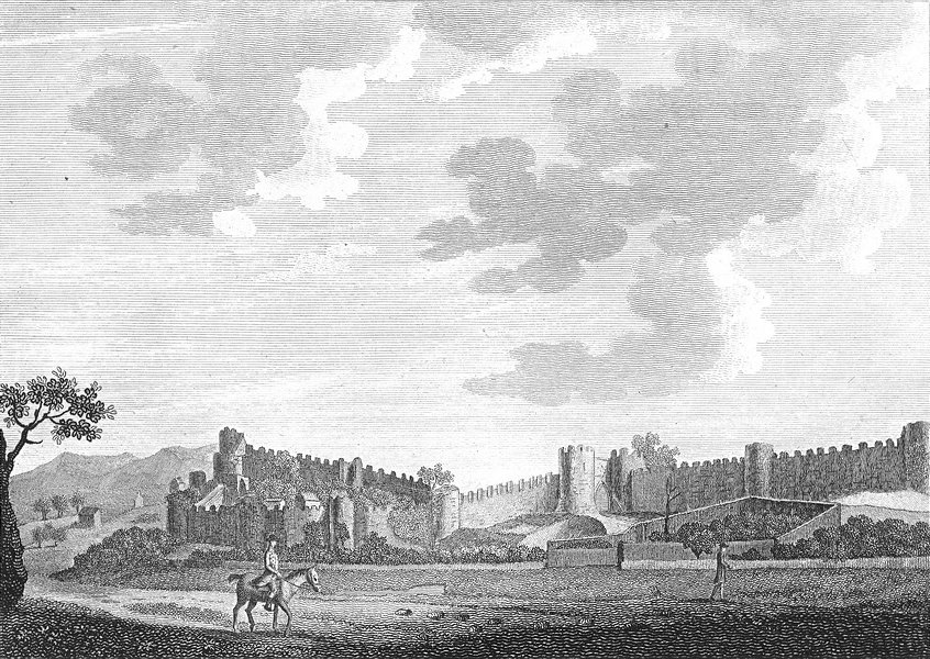 Associate Product WALES. Walls of Conway. Caernarfon. Grose. 18C 1795 old antique print picture
