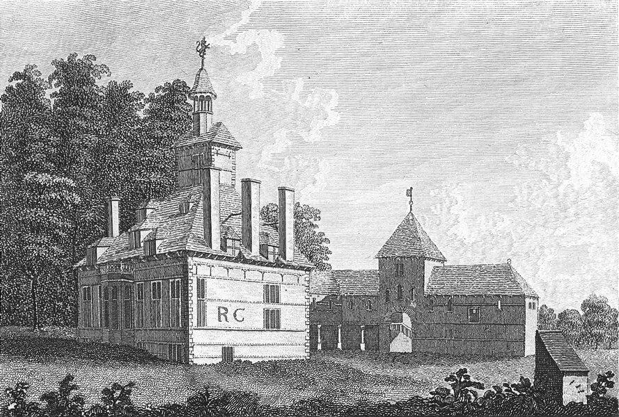 Associate Product WALES. Bachegrig House, Flintshire. Flint. Grose. 18C 1795 old antique print