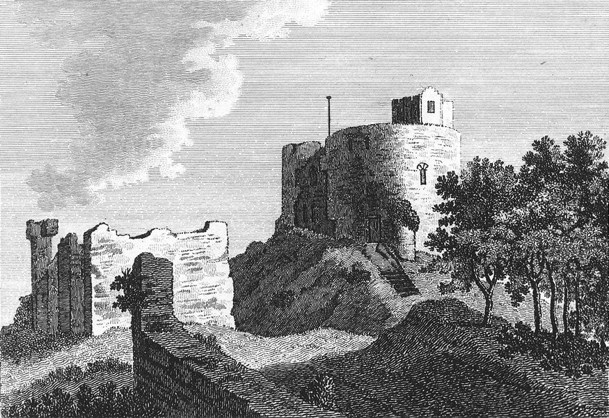 Associate Product WALES. Howerden Castle, Flintshire. Flint. Grose. 18C 1795 old antique print