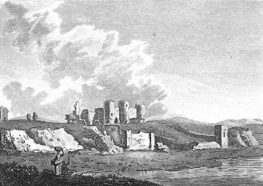 Associate Product WALES. Rhudland Castle, Flintshire. Flint. Grose. 18C 1795 old antique print