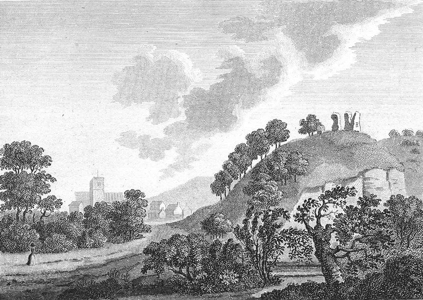 Associate Product WALES. Montgomery Castle. Grose. 18C 1795 old antique vintage print picture