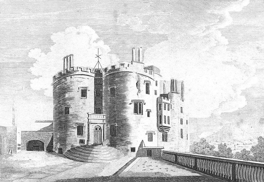 Associate Product POWIS CASTLE. Montgomeryshire. Montgomery. Grose. 18C 1795 old antique print