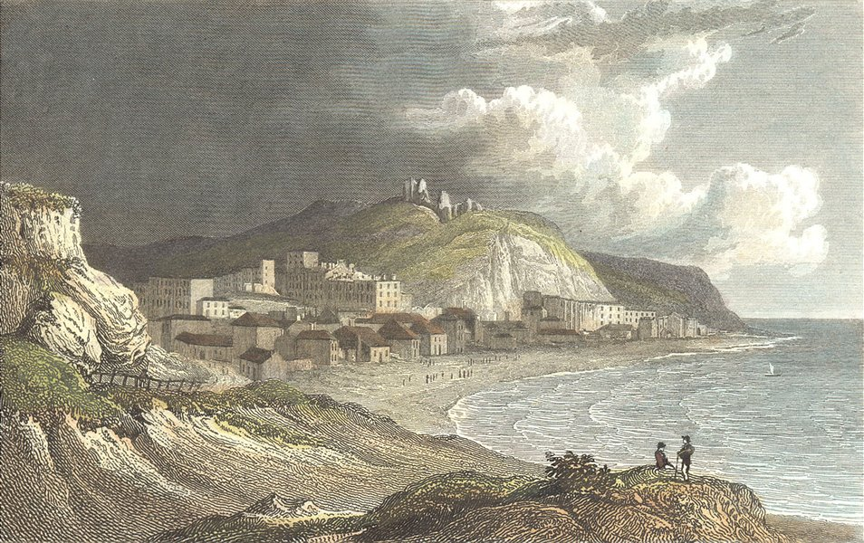 SUSSEX. Hastings, White Rocks. Westall c1833 old antique vintage print picture
