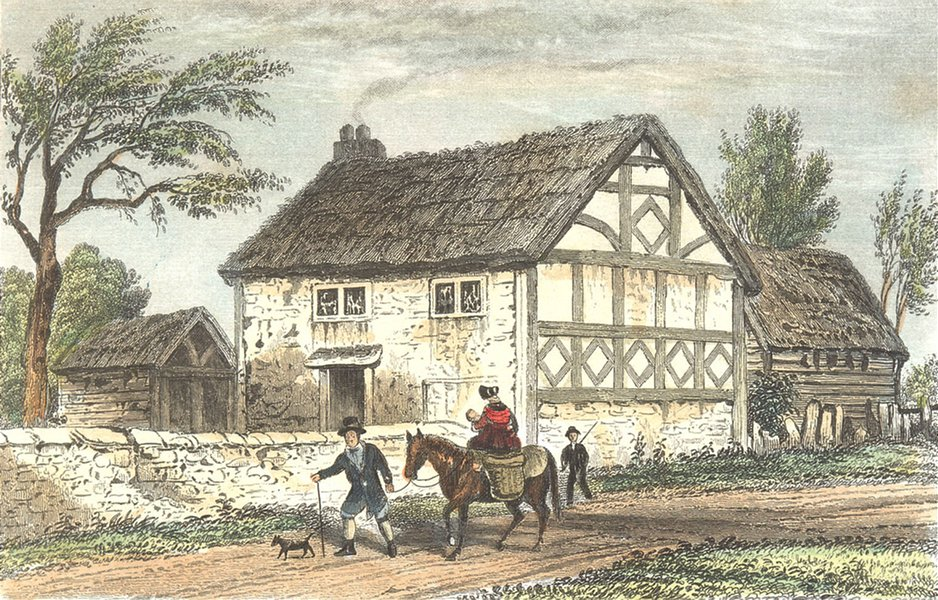 Associate Product SUSSEX. Birthplace of Seldon, Salvington. DUGDALE 1835 old antique print
