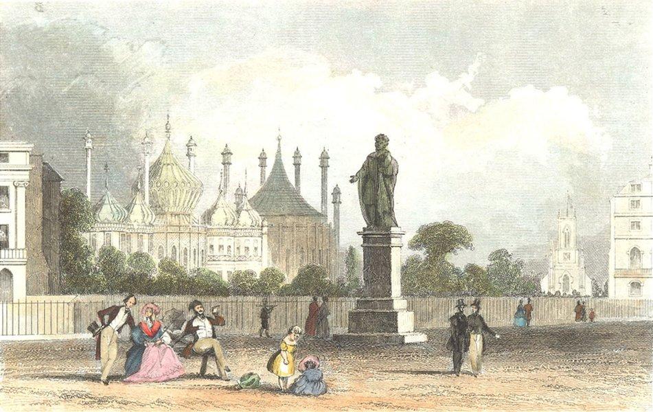 Associate Product SUSSEX. Pavillion, Brighton. DUGDALE 1835 old antique vintage print picture
