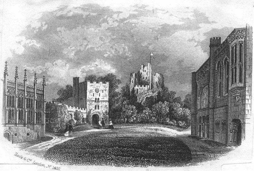 Associate Product SUSSEX. Arundel Castle(Keep & Quad) c1855 old antique vintage print picture