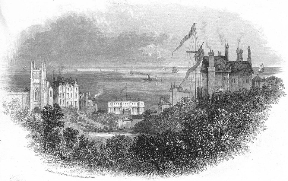 Associate Product SUSSEX. Entry to St Leonards c1855 old antique vintage print picture