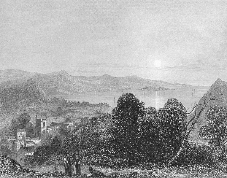 WALES. Bangor Cathedral Beaumaris 1836 old antique vintage print picture