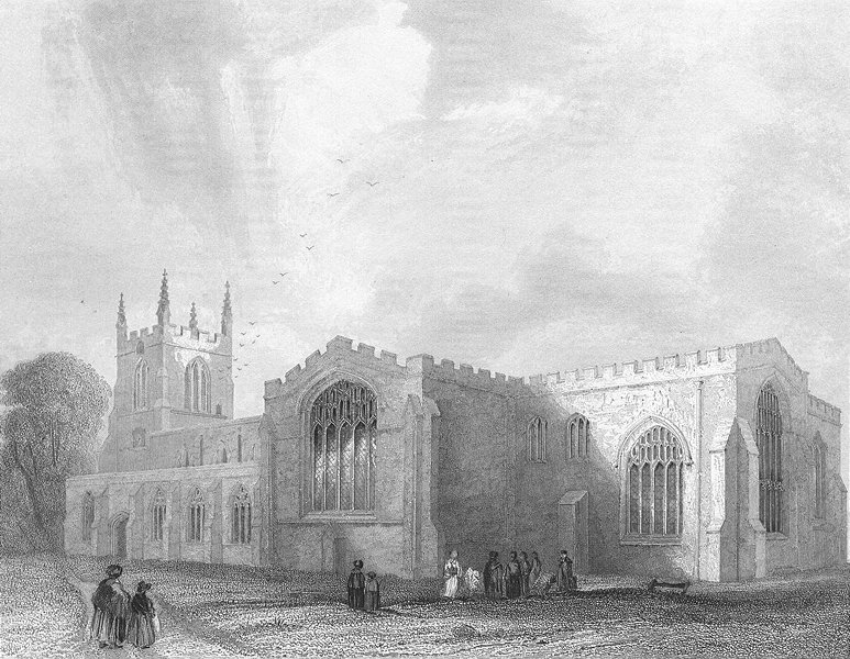 Associate Product WALES. Bangor Cathedral SE view 1836 old antique vintage print picture