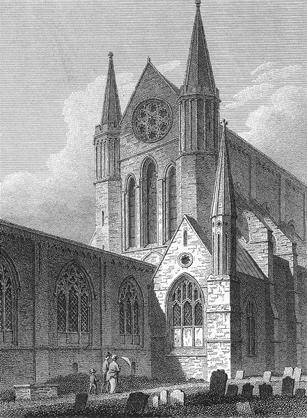Associate Product SUSSEX. NE Chichester Cathedral. Storer 1814 old antique vintage print picture