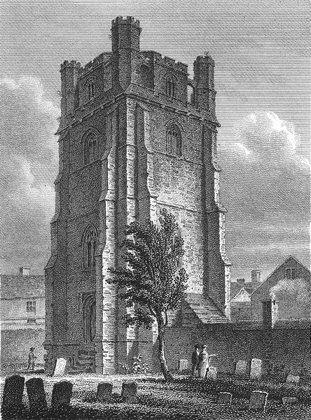 Associate Product SUSSEX. Bell Tower, Chichester Cathedral. Storer 1814 old antique print