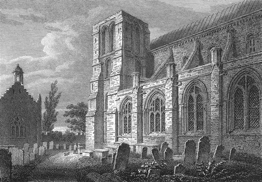SUSSEX. SW Chichester Cathedral. Storer 1814 old antique vintage print picture