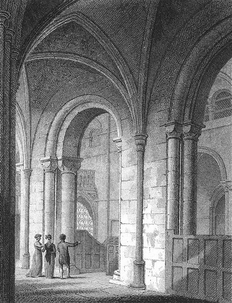 Associate Product SUSSEX. Chichester Cathedral. Storer 1814 old antique vintage print picture