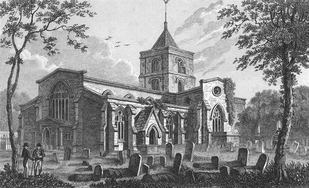 Associate Product SUSSEX. Arundel Church. Whittock. Churches 1830 old antique print picture