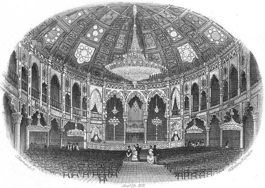 Associate Product SUSSEX. Dome Brighton, Pavilion c1855 old antique vintage print picture