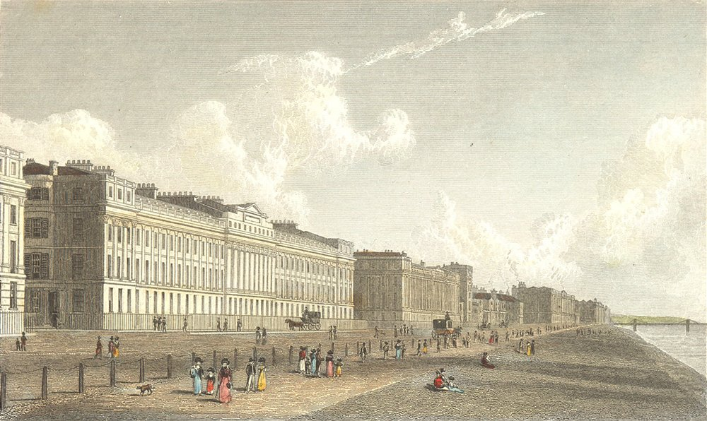 Associate Product SUSSEX. Brunswick Terrace, Brighton. Westall-Finden 1830 old antique print