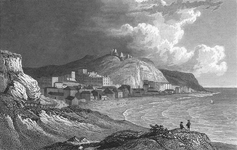 Associate Product SUSSEX. Hastings, White Rocks. Westall Steel 1832 old antique print picture
