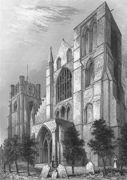 Associate Product SUSSEX. Chichester Cathedral Bell Tower 1860 old antique vintage print picture