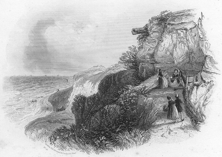 Associate Product SUSSEX. Lovers Seat, Fairlight. HARWOOD 1840 old antique vintage print picture