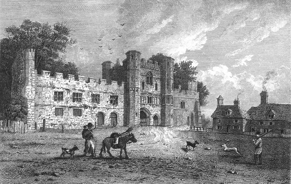 Associate Product SUSSEX. Battle Abbey Godfrey Webster. Excursions 1822 old antique print