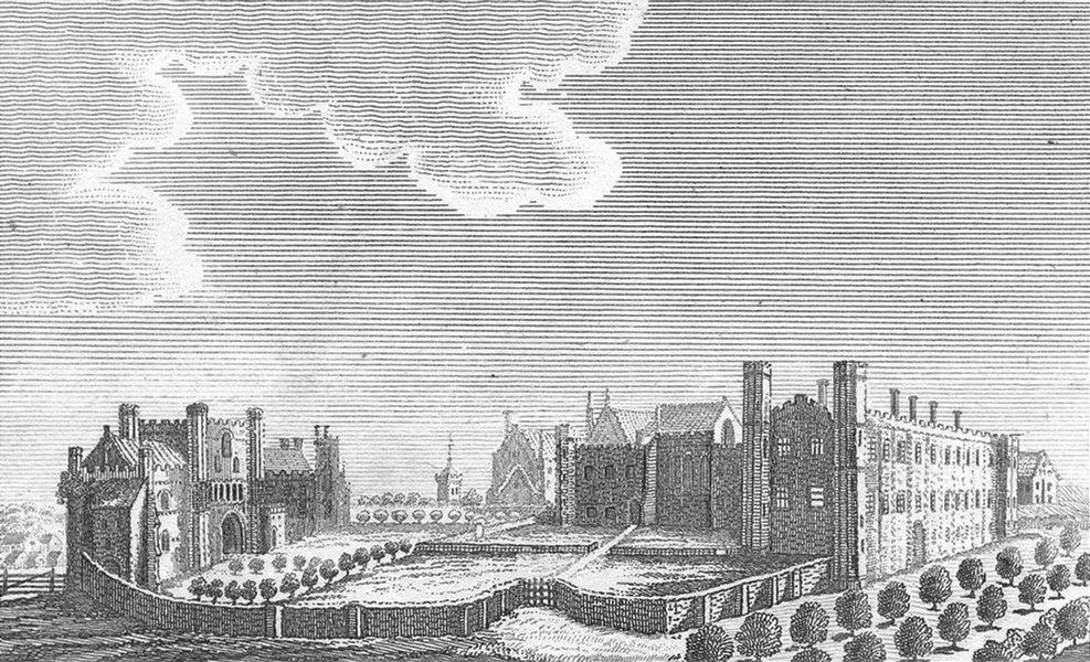 Associate Product SUSSEX. Battle Abbey. Lackington 1804 old antique vintage print picture