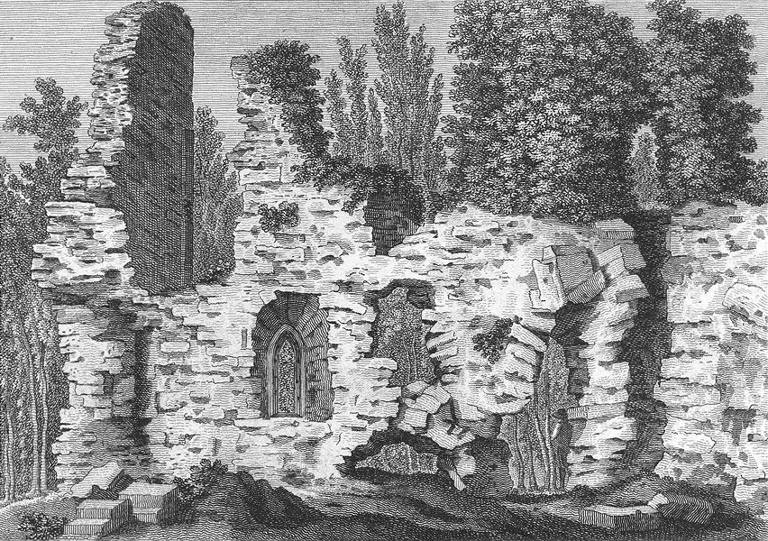 Associate Product SUSSEX. Inside of Verdley Castle. Grose 1783 old antique vintage print picture