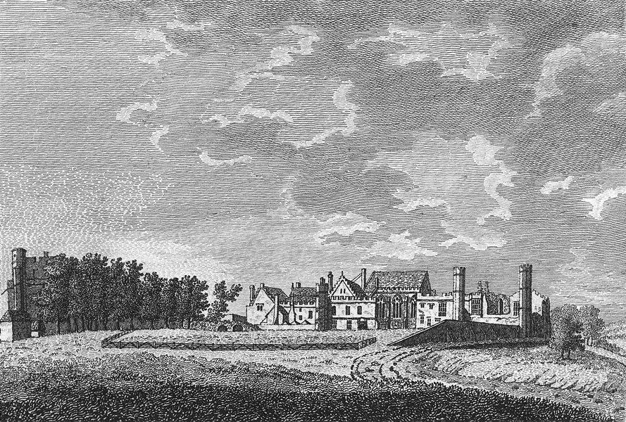 Associate Product SUSSEX. Battle Abbey. Grose 1783 old antique vintage print picture