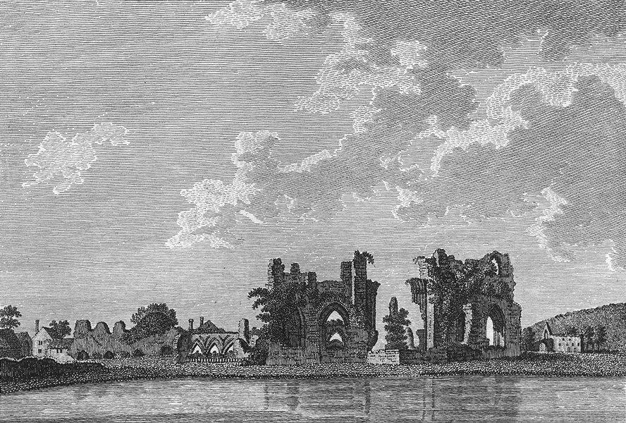 Associate Product KENT. Bayham Abbey. Grose 1783 old antique vintage print picture