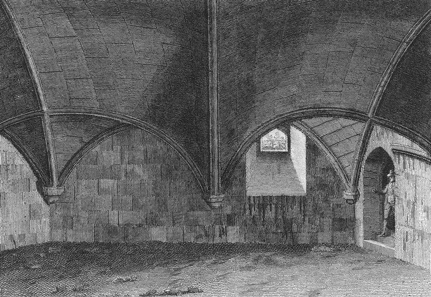 Associate Product SUSSEX. crypt, Bosham. Grose 1783 old antique vintage print picture