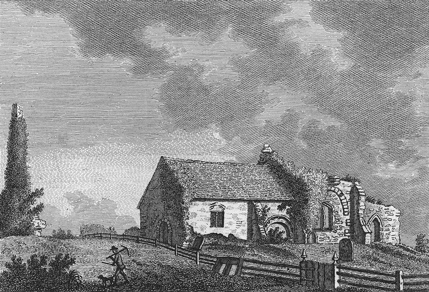 Associate Product SUSSEX. Bramber Church. Grose 1783 old antique vintage print picture